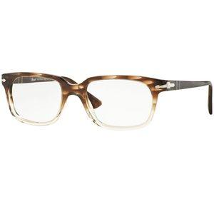 Persol Eyeglasses Striped Brown/Transparent